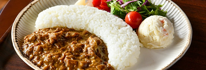 Curry & rice / Hashed meat & rice